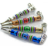 vaporsandthings.com:1Pc Multicolor Glass Bead High-Grade Creative Tobacco Smoke Pipes with Metal Pipe Screens