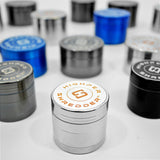 "vaporsandthings.com:10pk 2.4"" Zinc Alloy Grinder, 4 part, Silver"