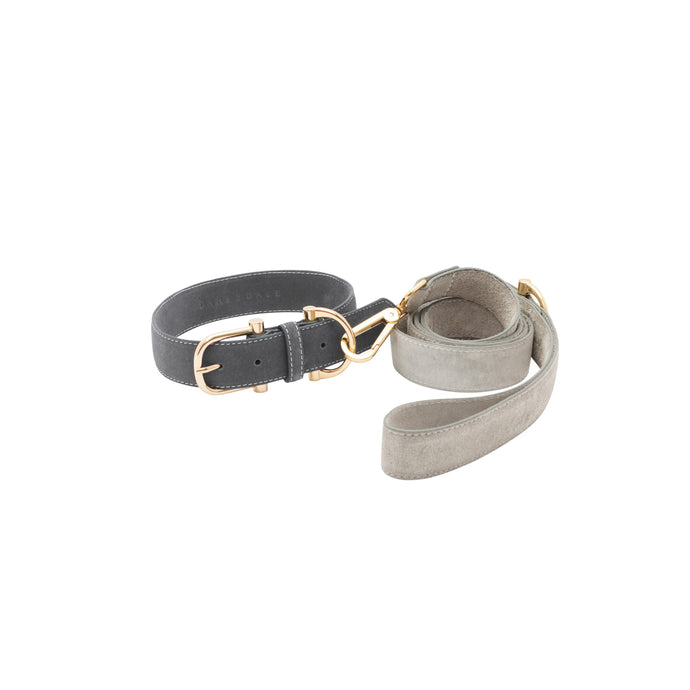 TOWN SUEDE COLLAR + LEASH SET - MORE COLORS AVAILABLE