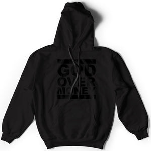 God Over Money Hoodie (Black on Black)