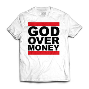 God Over Money White Tee