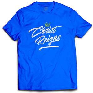 Christ Reigns Royal Blue