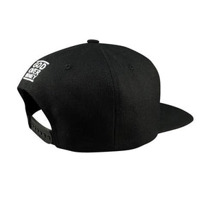 GOM Monogram Snapback, Black/White