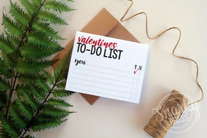 Valentines to-do list card