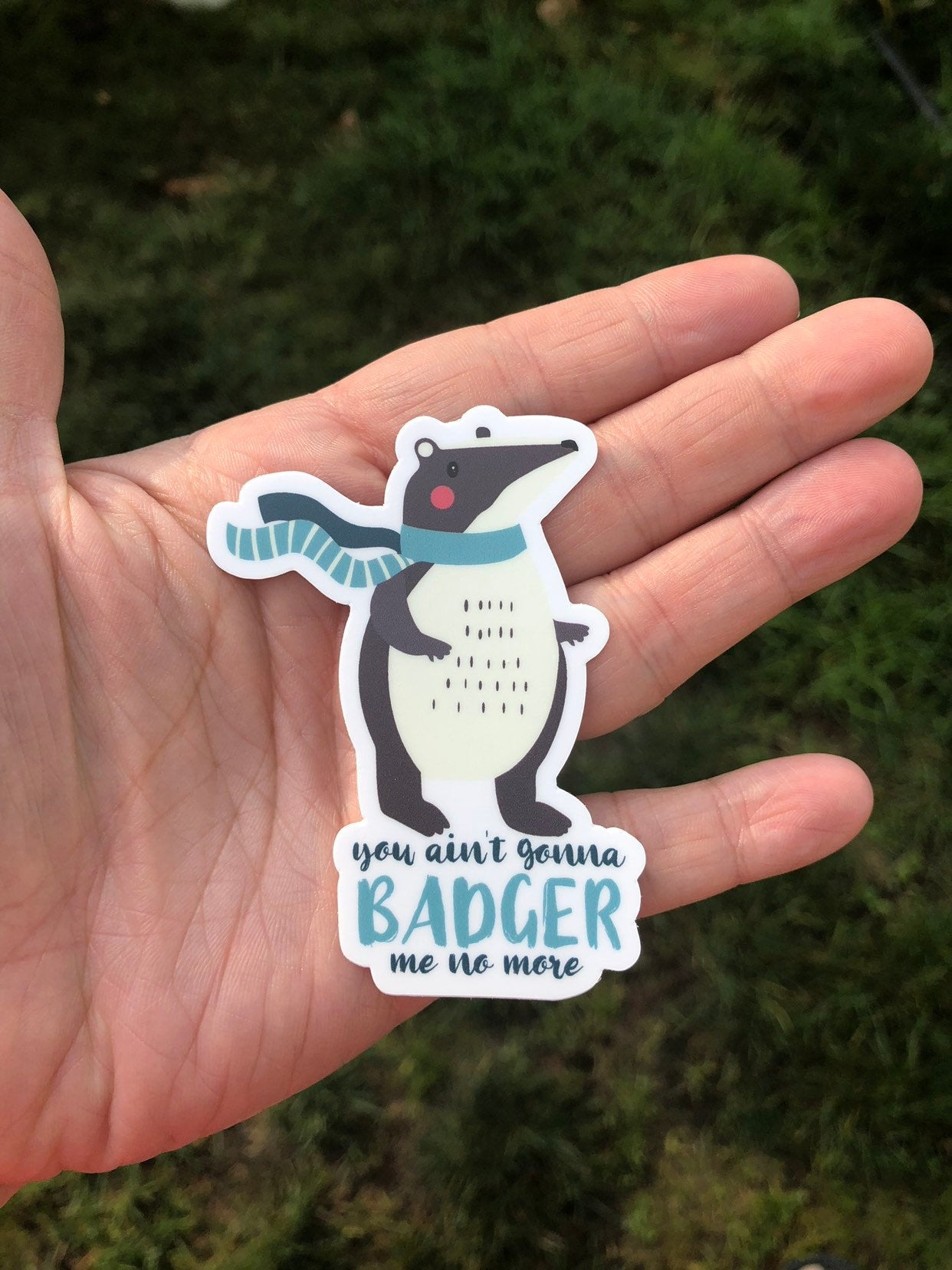 You ain't gonna badger me no more funny sticker