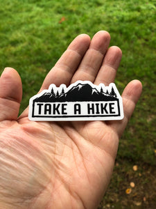 Take a Hike sticker, hiking decal