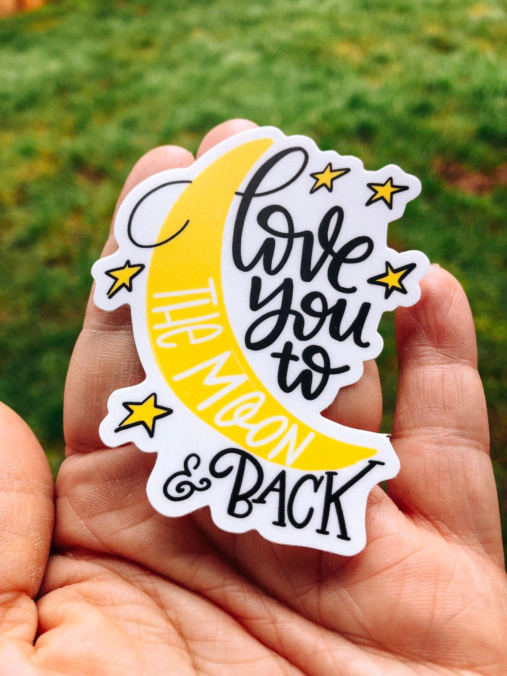 I love you to the moon & back cute sticker