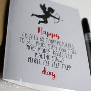 Funny Anti Valentines day card for Singles