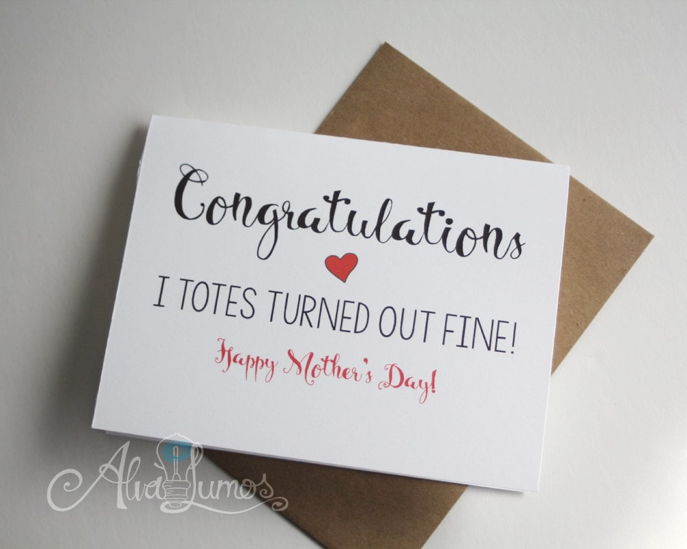 Congratulations! Mother's Day Card