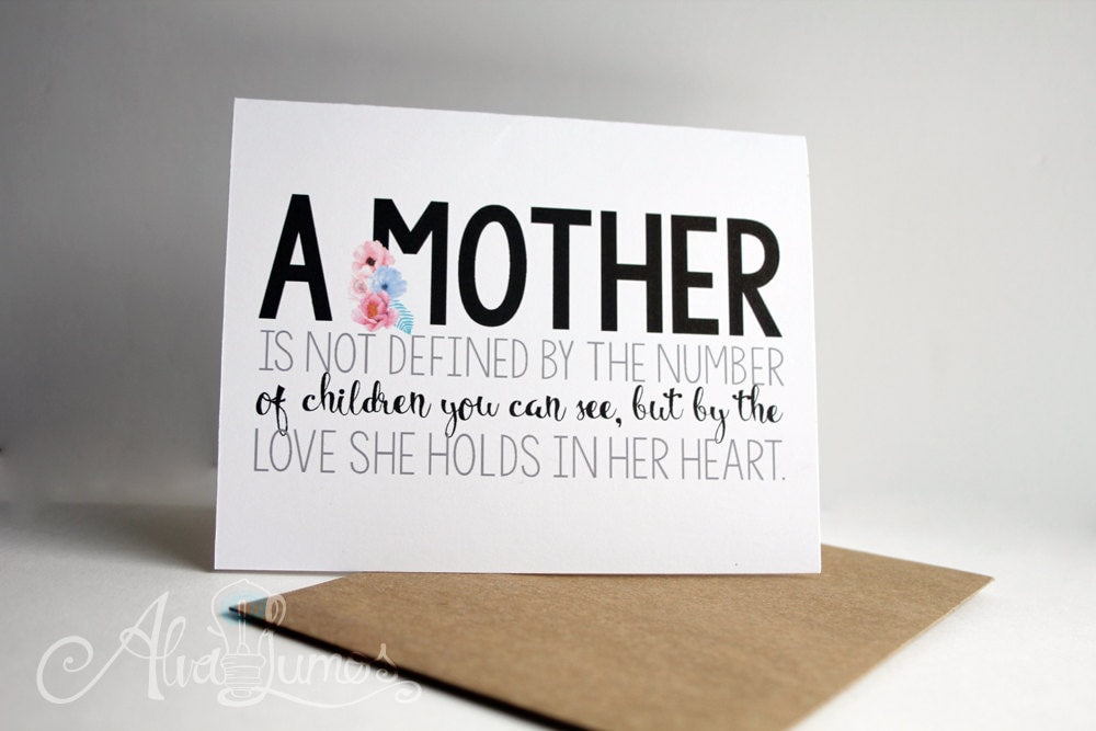 Definition of Mother - Mother's Day card
