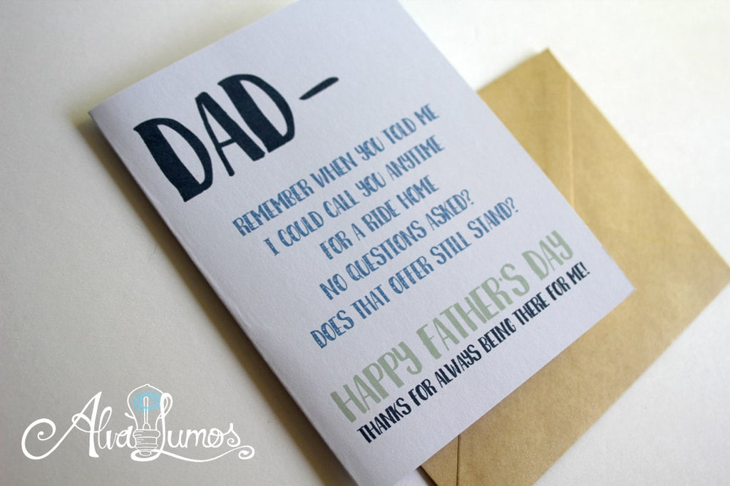 Always being there Father's Day Card