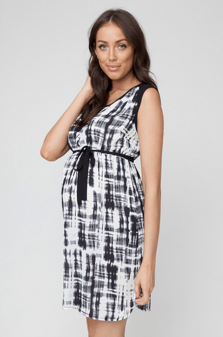 Stencil Tunic Dress - Cozy Bump Pregnancy Pillow