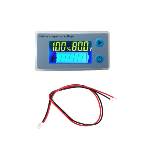 LCD 12V 24V 36V 48V Battery Status Voltage Voltmeter Monitor Meter Lifepo AGM - Sales67