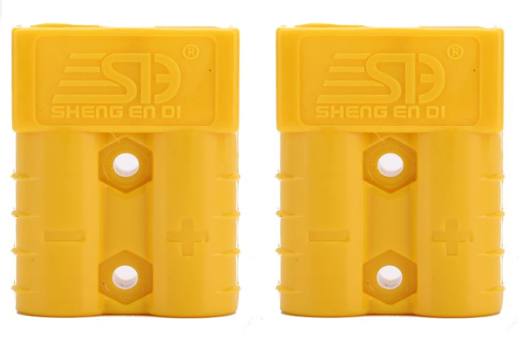 Yellow 50 Amp Anderson Style Plugs - Matched Pair - Sales67