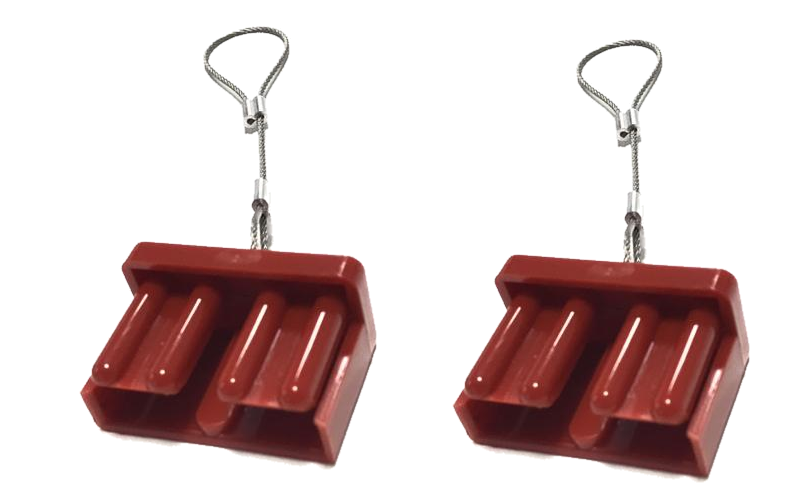 2 x PL DUST CAP COVER RED ANDERSON PLUG 50 AMP DUAL BATTERY 50a - Sales67