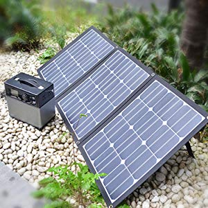 120 Watt 12 Volt Sunpower Silicon Cell Folding Solar Panel Only 2.6KGS with Accessories - Sales67