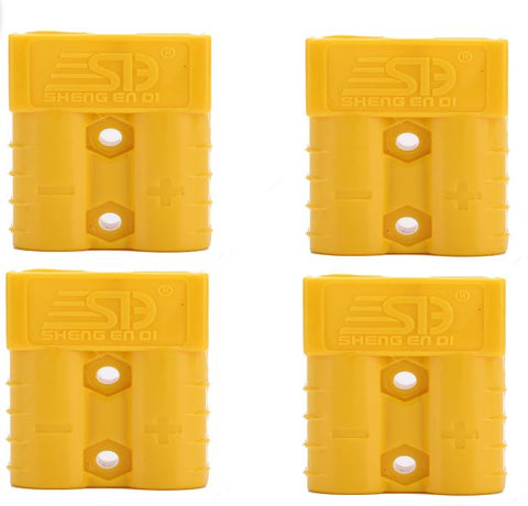 4 x  50 Amp YELLOW Anderson Style Plugs - Matched Pairs - Sales67