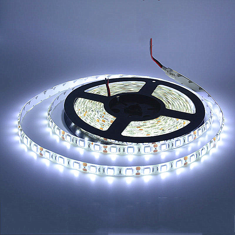 LED Strip Cool White Waterproof IP65 SMD 5050 12V 5m Roll Flexible lights 10000K - Sales67