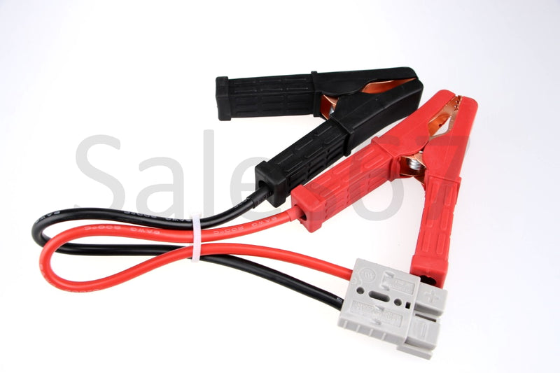 50 Amp Anderson style Plug Connector Auto Cable 8AWG to battery alligator clamps - Sales67