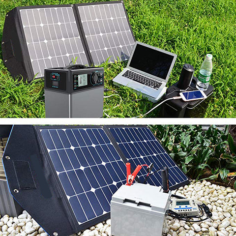 80 Watt 12 Volt Sunpower Silicon Cell Folding Solar Panel Only 2KGS with Accessories - Sales67