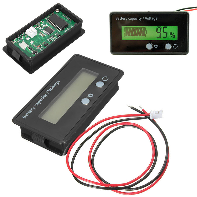 LCD 12V 24V 36V 48V Battery Status Voltage Voltmeter Monitor Meter Caravan - Sales67