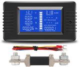 LCD 0-200V 300A DC Battery Meter Volt meter Amp meter Discharge Capacity Energy - Sales67