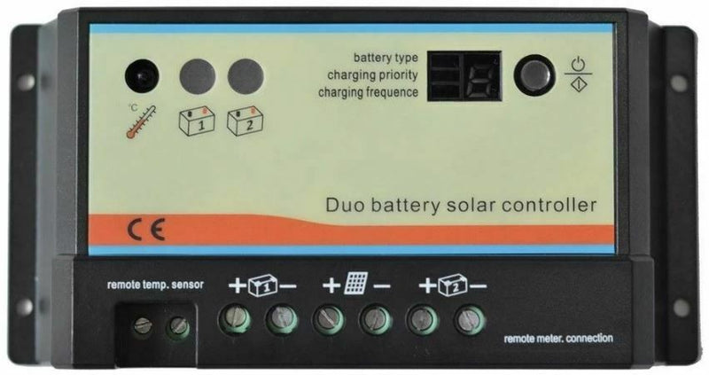 12/24V 20A Duo Battery Solar Panel Battery Regulator Charge Controller
