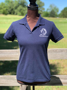 The Braided Mane Polo in Navy