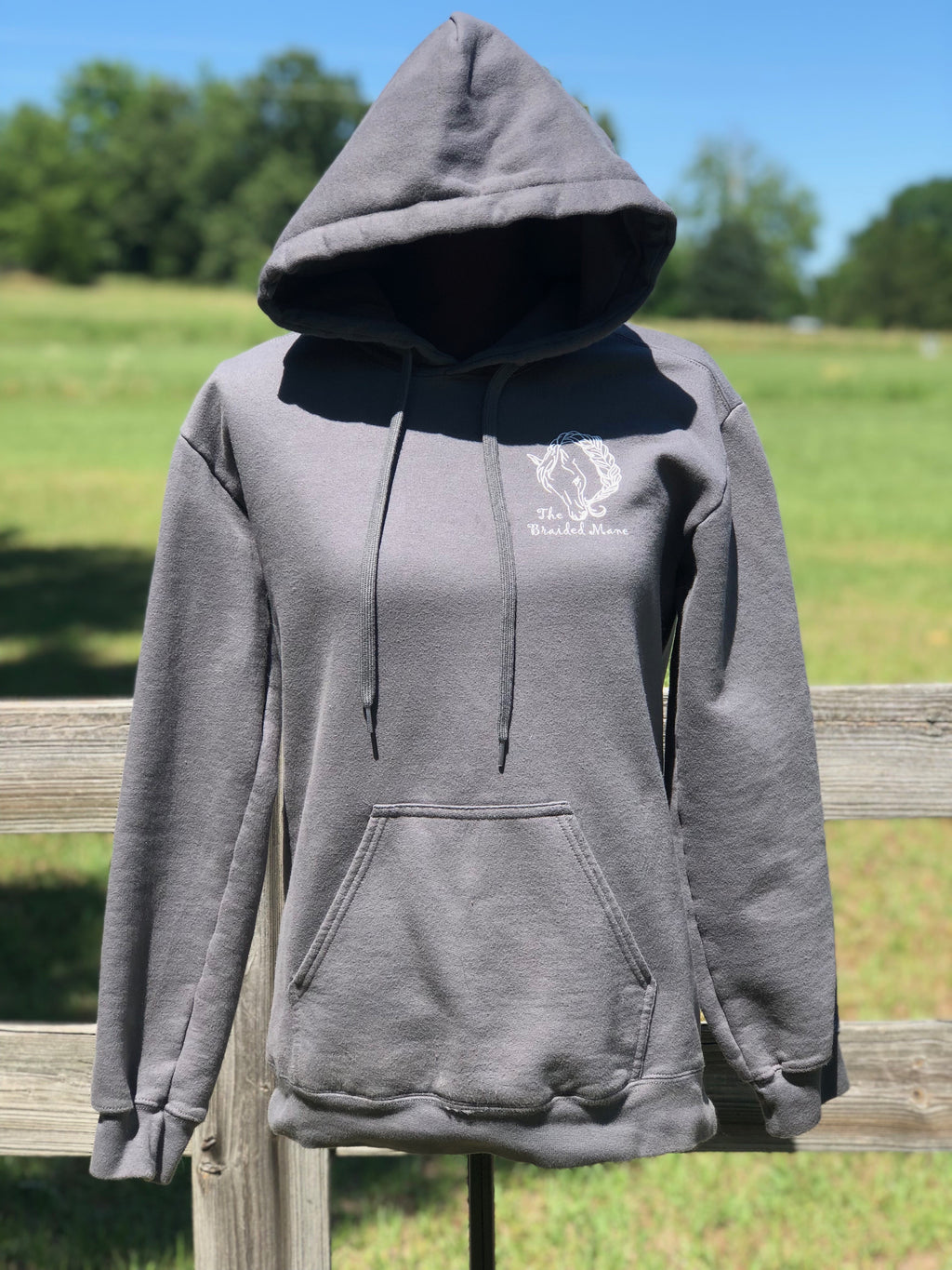 The Braided Mane Hoodie Charcoal Grey