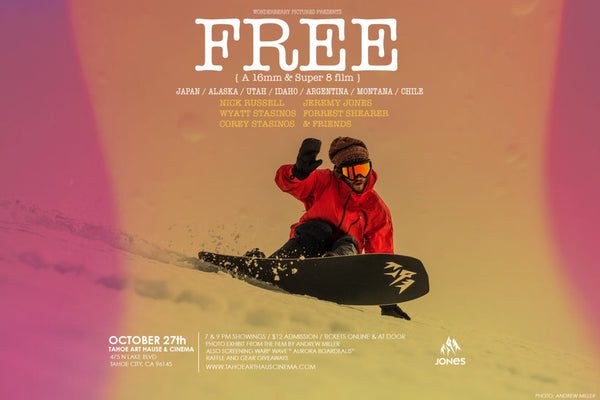 """FREE""  Wonderberry Pictures and Brothers Films presents a 16mm and Super 8 snowboard film"