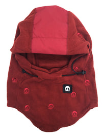 Hooded Face Mask-BURGUNDY