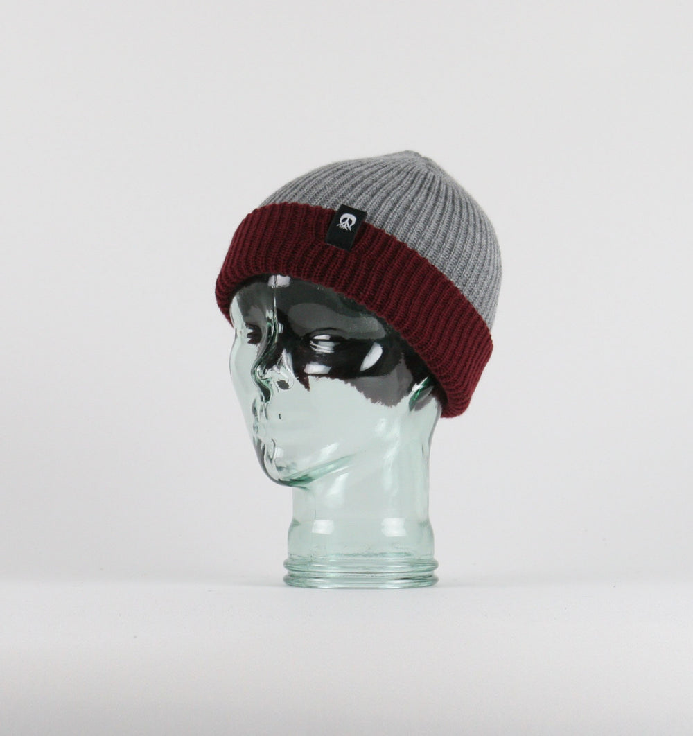 Burgundy Two Tone Beanie
