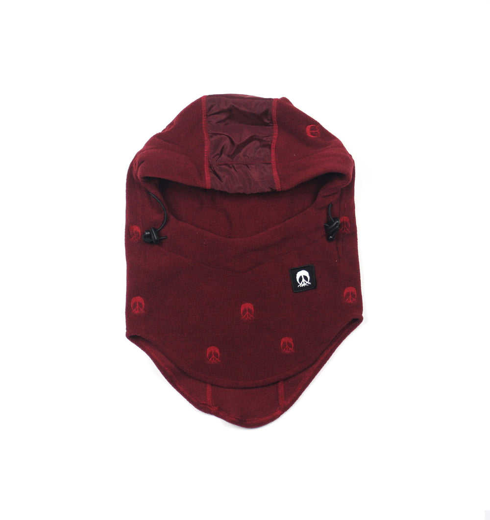 Face Mask Hood - Dark Burgundy