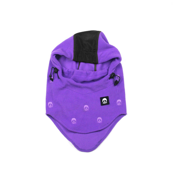 Hooded Facemask - Purple