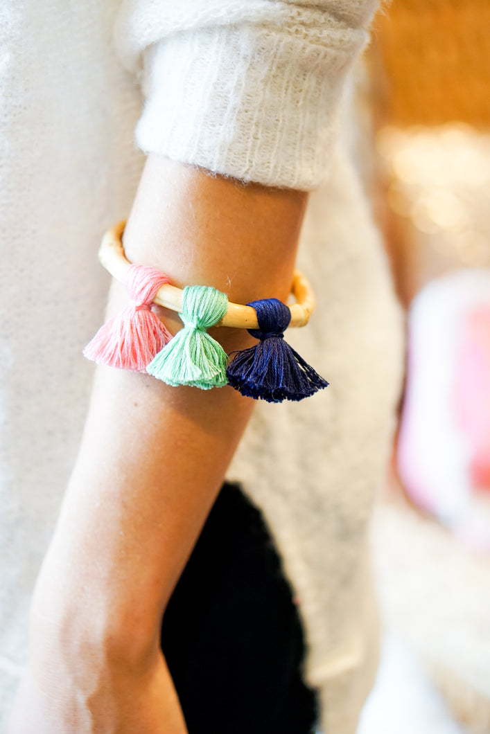 Sullivan's Tassel Bamboo Bangle