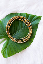 Gold Sparkly Double Wrap Necklace/Bracelet