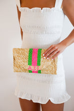 Custom Painted Monogram Clutch