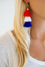 Red, White, & Blue Tassel Earrings