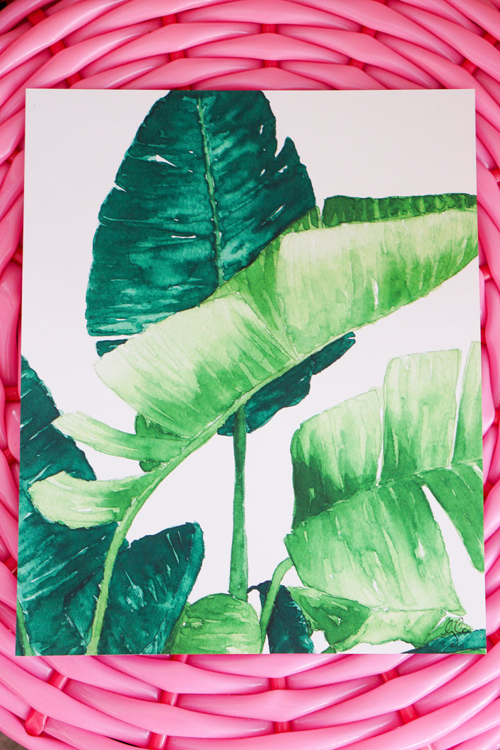 Tropical Palm Watercolor Print