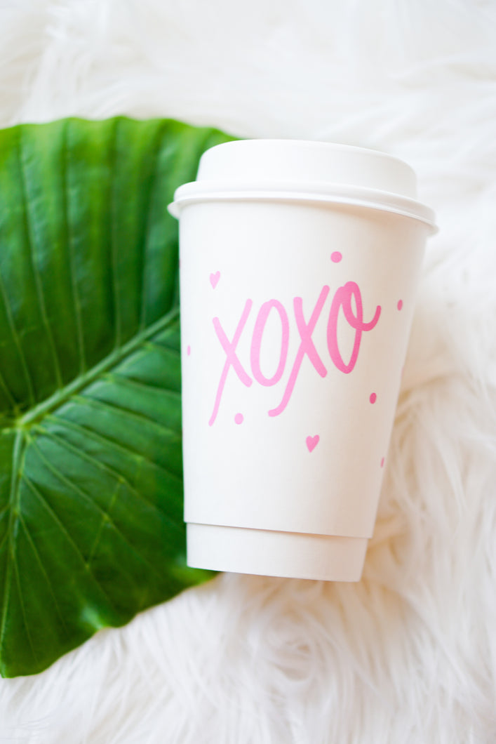XOXO coffee cups
