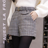 Winter Fashion Vintage High Waist Wool Claire Shorts