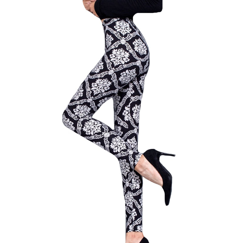 Floral Print Fitness High Waist Push Up Leggings
