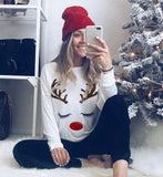 Casual Christmas Long Sleeve O Neck T-Shirt - Plus Size