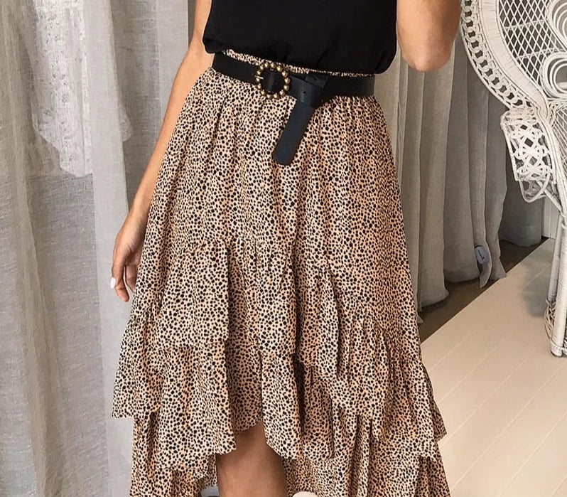 Pretty High Waist Flounce Skirt