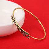 18K Gold Plated Cute Giraffe Bangle 2 Styles