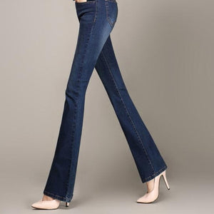 Slim Fit Flare High Waist Stretch Skinny Jeans