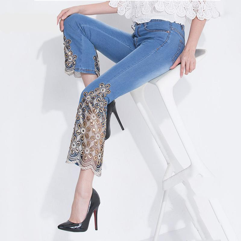 New Sexy Embroidered Jeans