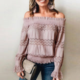 Off Shoulder Lace Elegant Blouse