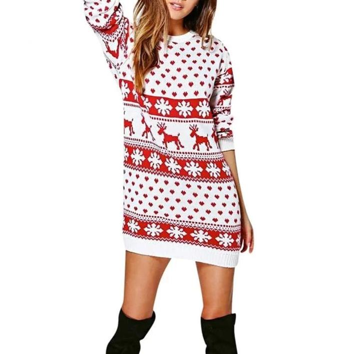 Winter Christmas Sweatshirt Dress