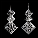 Gold / Silver Color Square Pendant Earrings